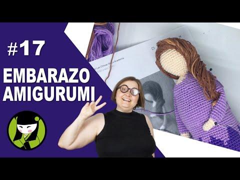 MUJER EMBARAZADA TEJIDA A CROCHET 17 PELO