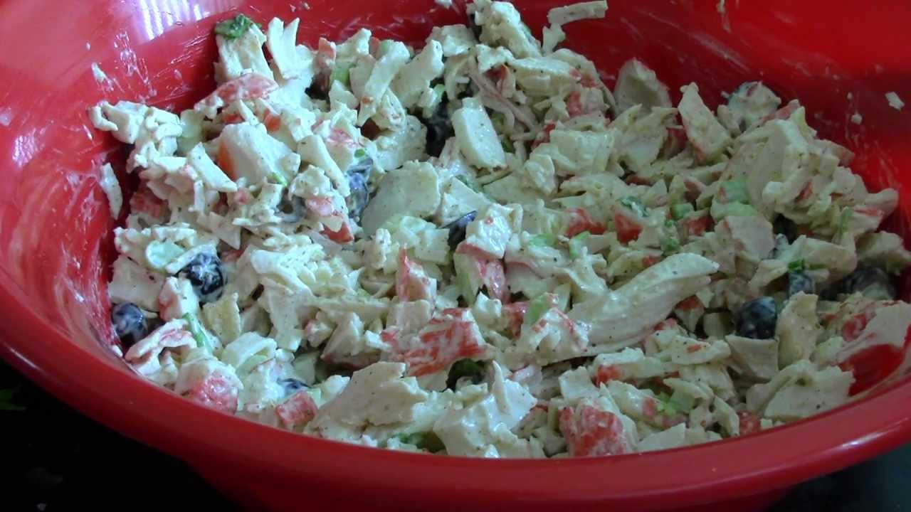 How to cook a crab salad and what is needed