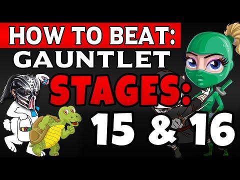 MK11 | How To Beat Gauntlet Stage 15 & 16! Rainbow Ninjas & More Tips