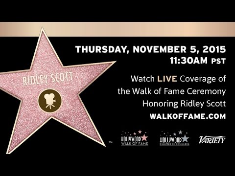 Ridley Scott Walk of Fame Ceremony