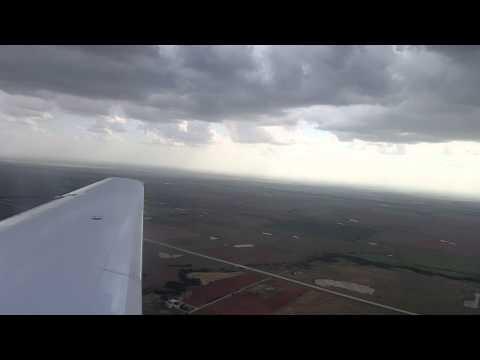 American E140 landing at Lawton Oklahoma