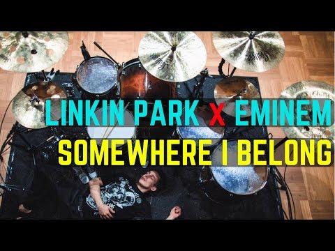 Linkin Park x Eminem - Somewhere I Belong - Drum Cover Tribute