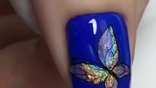 Бабочка, ускоренный видео урок дизайна ногтей