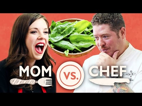 Mom Vs. Chef: Battle Spinach