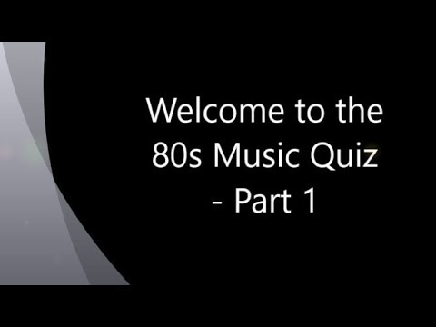 80s Music Quiz Name That Tune Party Game Part 1 Youtube