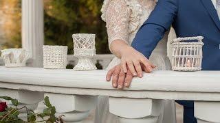 Идеи свадебного декора. Плетёные подсвечники.