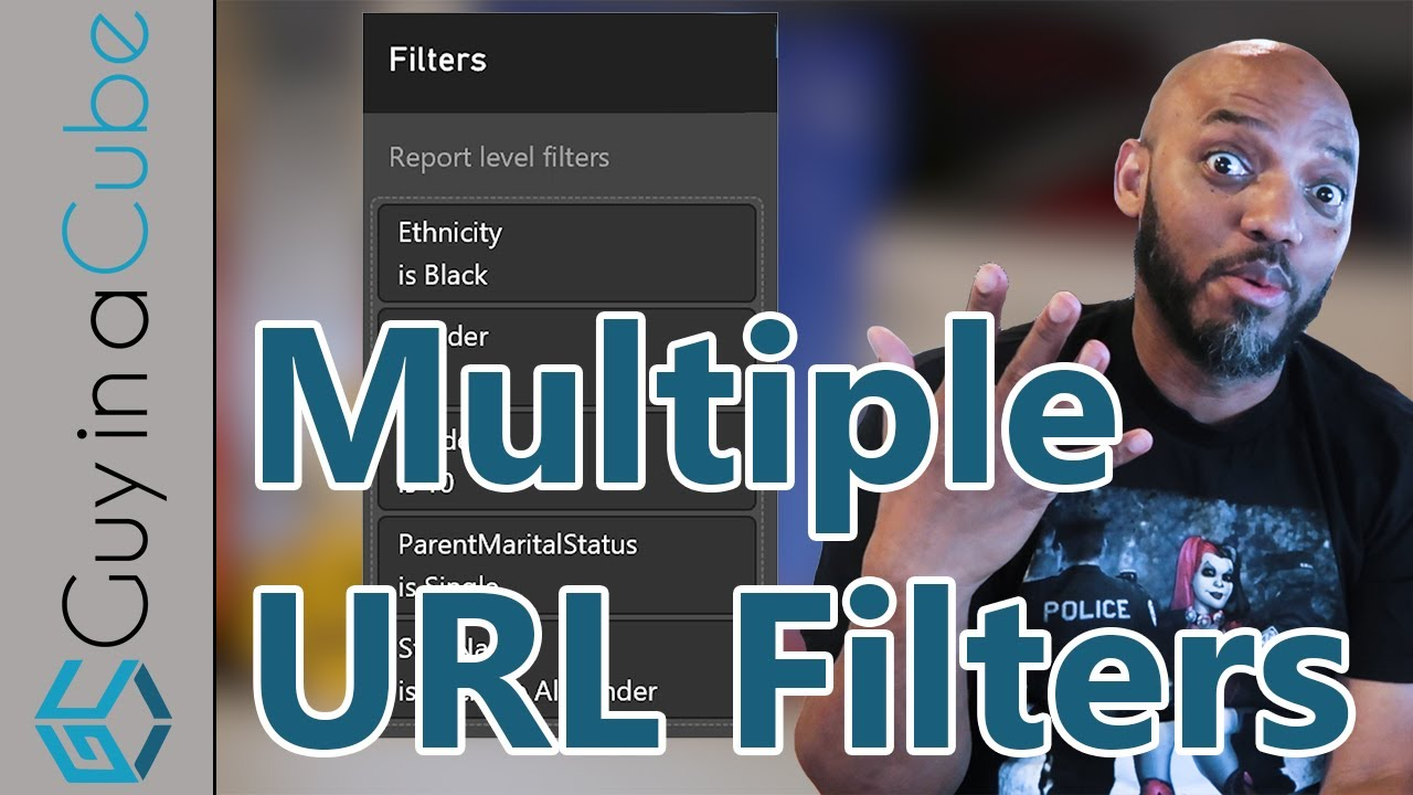 How to use multiple url filters with Power BI reports