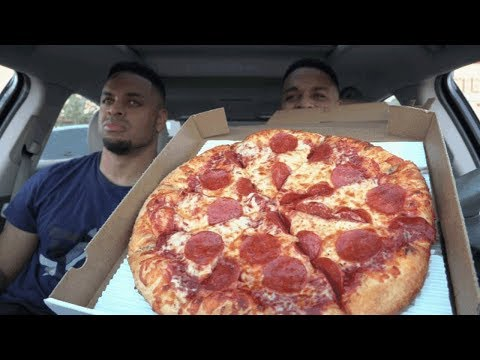 Eating Marcos Pizza @hodgetwins