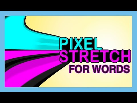 Pixel Stretch effect for words -  photoshop tutorial thumbnail