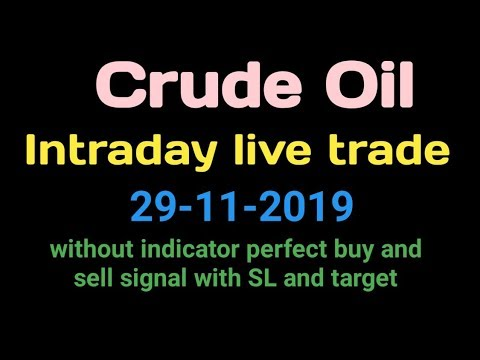 Live Intraday Trade In Crude Oil 29-11-2019 || Best Intraday Strategies For Crude Oil