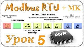 Контрольная сумма crc + modbus rtu