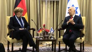 President Shimon Peres and Chancellor Angela Merkel