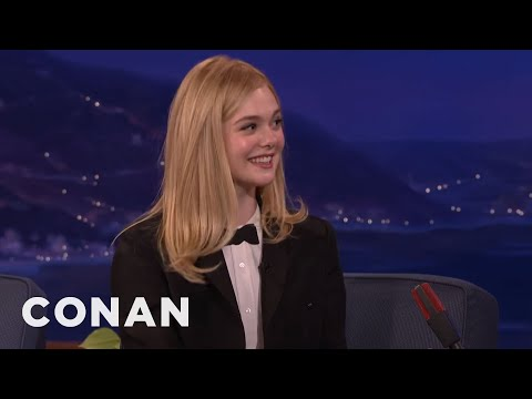 Elle Fanning Lies To Uber Drivers  - CONAN on TBS