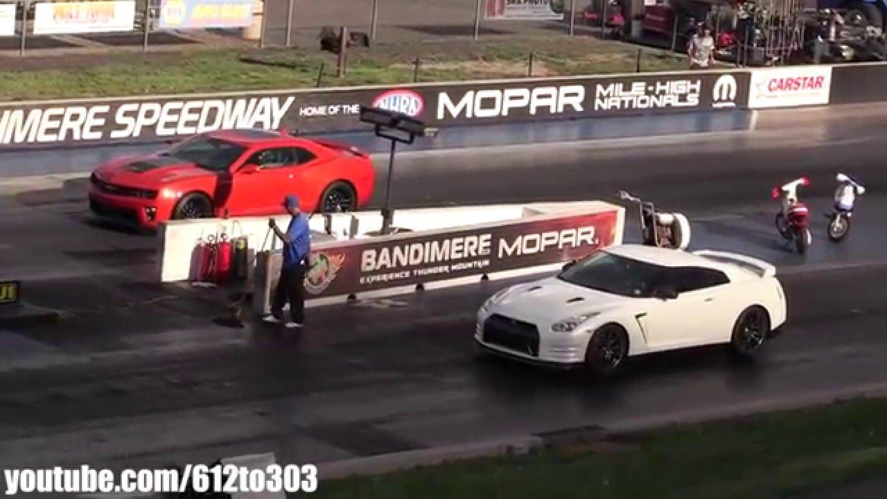2014 Nissan Gtr Vs Camaro Zl1 Youtube
