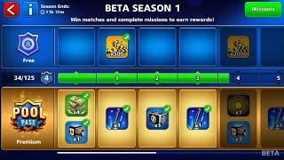 New Pool Pass Update In 8 Ball Pool | Pool Pass season 1