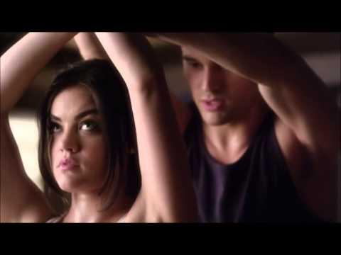 Pretty Little Liars 4x02 - Aria & Jake Doing Martial Arts ...