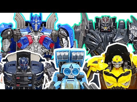 Transformers 5: The Last Knight toys! Optimus Prime, Megatron, Bumblebee, Squeeks!! - DuDuPopTOY