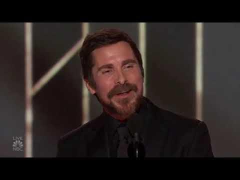 Christian Bale thanking SATAN at Golden Globe 2019 speech award