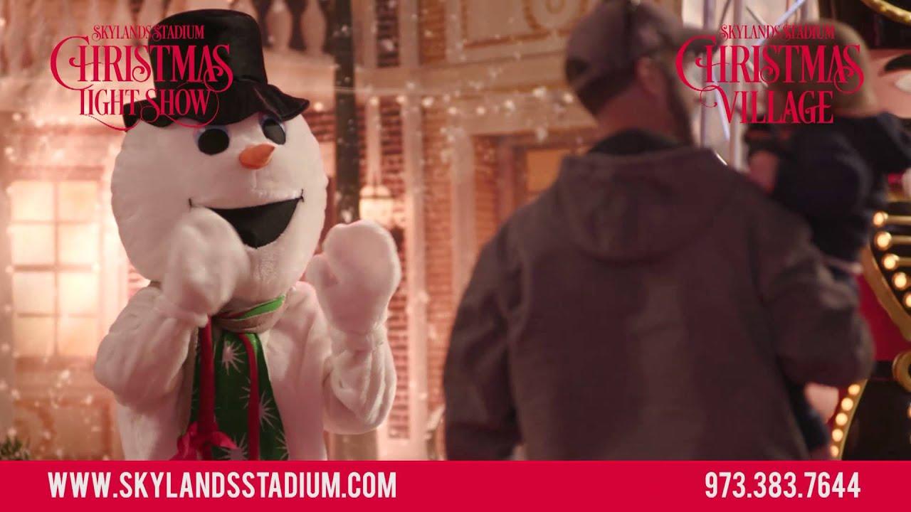 skylands stadium christmas light show village