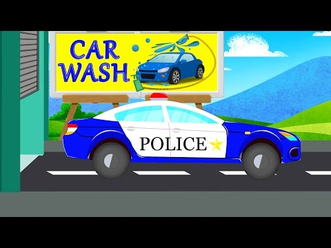 Police Car  Car Wash Videos Videos For Baby & Toddlers