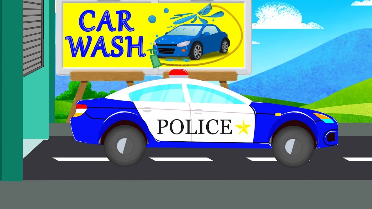 police car car wash videos videos for baby toddlers youtube
