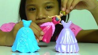 Disney Princess Cinderella Little Kingdom Fairy Tale Fashion Doll 3 MagiClip Fashion Dress