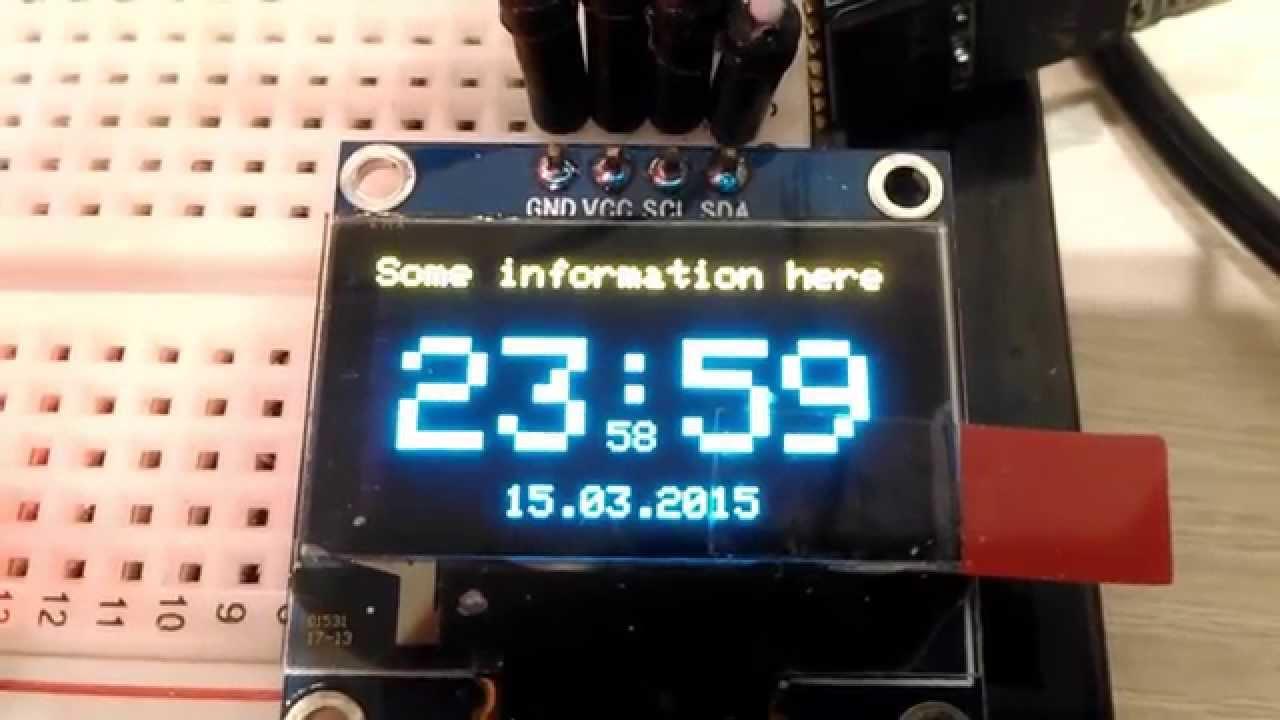 Часы на arduino и oled дисплее youtube