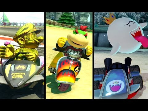 Mario Kart 8 Deluxe - All 6 New Characters (Gameplay Showcase)