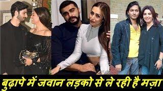बेटे की उम्र के लड़को से बुढ़ापे में भी जवानी के मज़े ले रही है ये 7 अभिनेत्री ! Bollywood