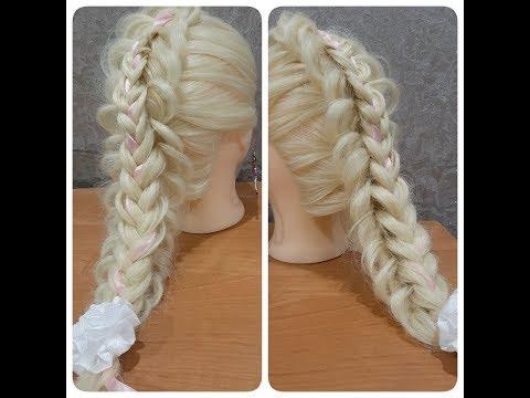Прическа для первоклассницы на 1 сентября на длинные волосы / Прическа на каждый день / Быстрая коса