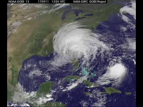 Satellite Animation Sees Post Tropical Cyclone Irma and Hurricane Jose