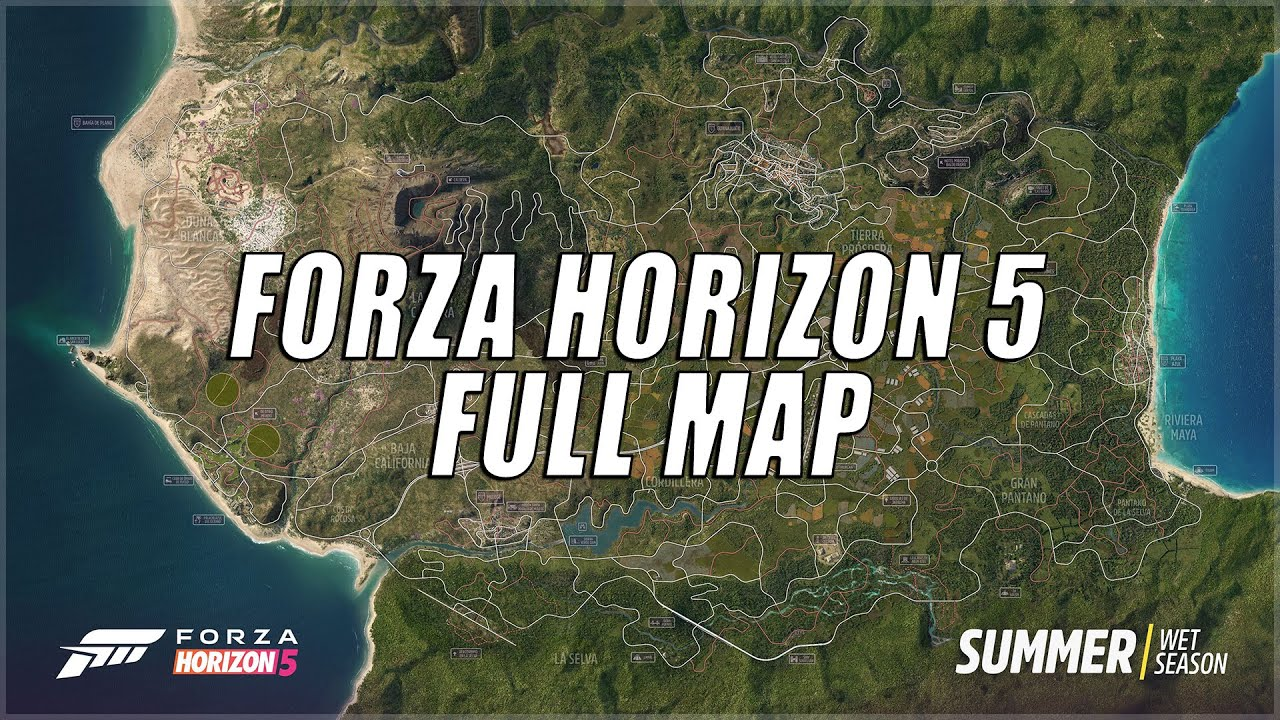 NEW FORZA HORIZON 5 MAP WITH AIR STRIP, VOLCANO, RACE TRACK, HIGHWAY AND MORE