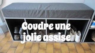Couture : faire une assise - de banc ou de meuble - avec de la mousse ! Très confortable ;)
