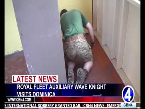ROYAL FLEET AUXILIARY WAVE KNIGHT VISITS DOMINICA