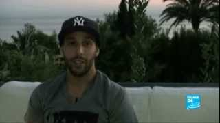 محطة  مع لاعب كرة القدم المغربي منير الحمداوي