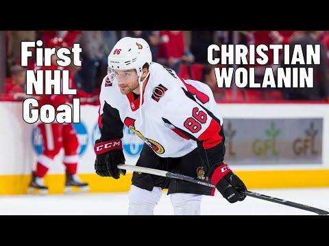 Christian Wolanin #86 (Ottawa Senators) first NHL goal 02.04.2018