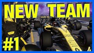 F1 2018 Career Mode : NEW TEAM!! (Part 1)