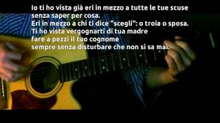 Ligabue - Quella Che Non Sei [Karaoke - Guitar - Testo] HD
