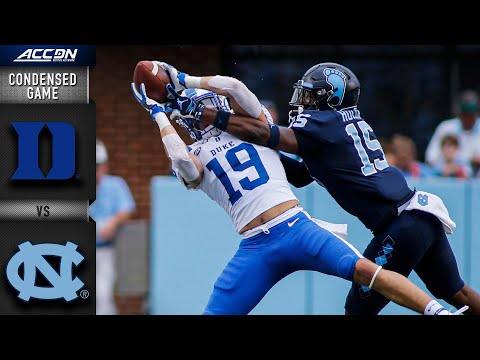 Duke Vs. North Carolina Condensed Game | ACC Football 2019-20