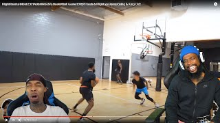 FLIGHT KNOCKED HIMSELF OUT LOL! 2v2 Basketball Cash & Flight vs Deestroying & King Cid!