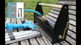 Make the portable compressed AIR tank