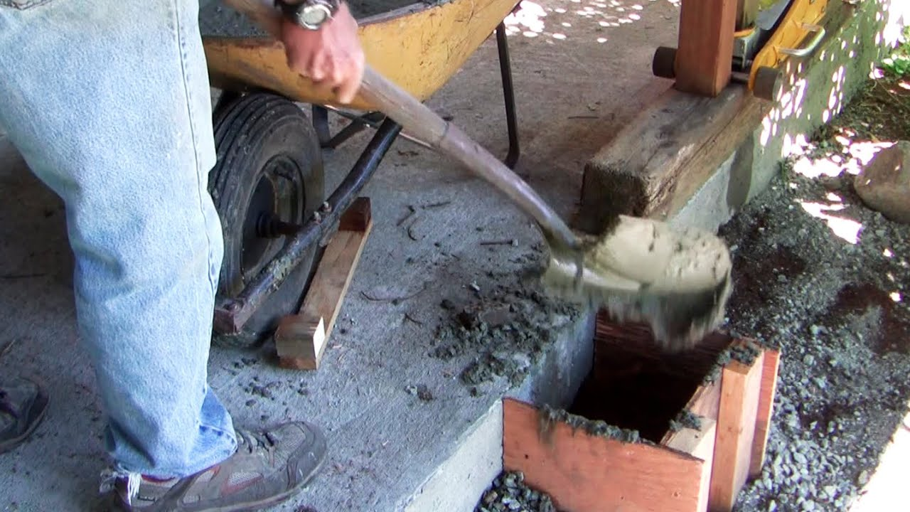How To Replace A Concrete Pier To Prevent Wood Rot Youtube