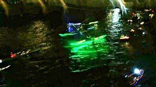 Сотни светящихся байдарок проплыли по каналам Копенгагена (новости)