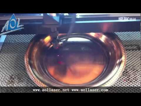 How to engrave on metal copper,mini laser engraver-AOL CNC Euipment