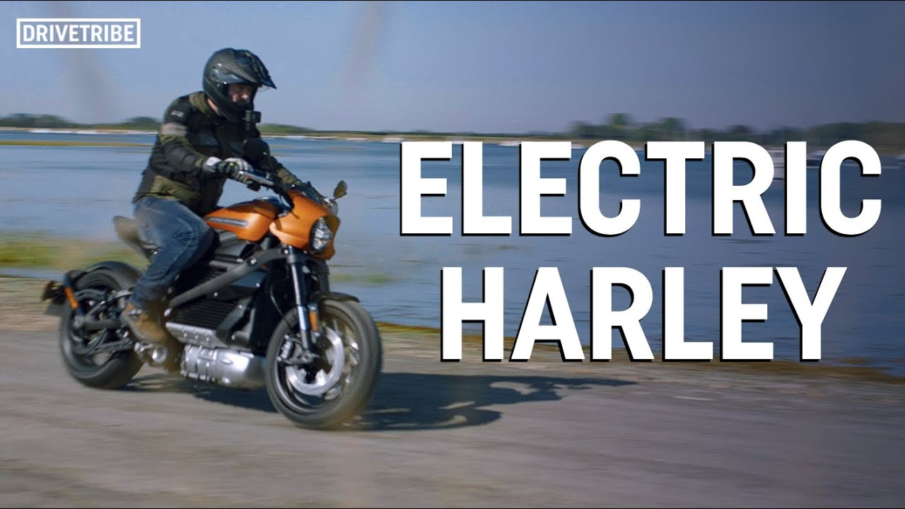 How far can you ride an electric Harley Davidson before sunset?