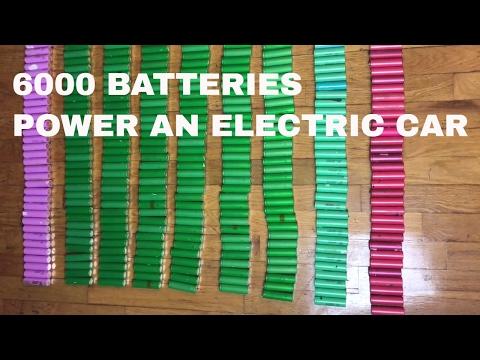 SIX THOUSAND 18650  BATTERIES POWER AN ELECTRIC CAR