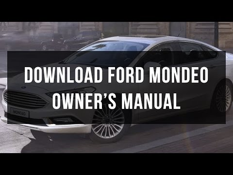 How to download Ford Mondeo owner's and service manual