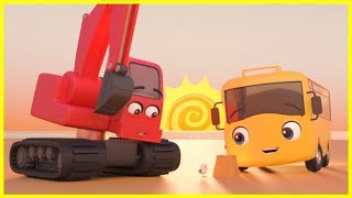 Buster And The Sandcastle SONG | Go Buster | Baby Cartoons | Kids Videos | ABCs and 123s