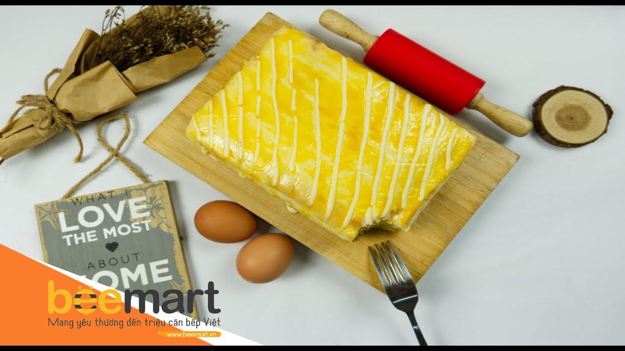 Cách làm bánh bông lan sữa chua phô mai nướng