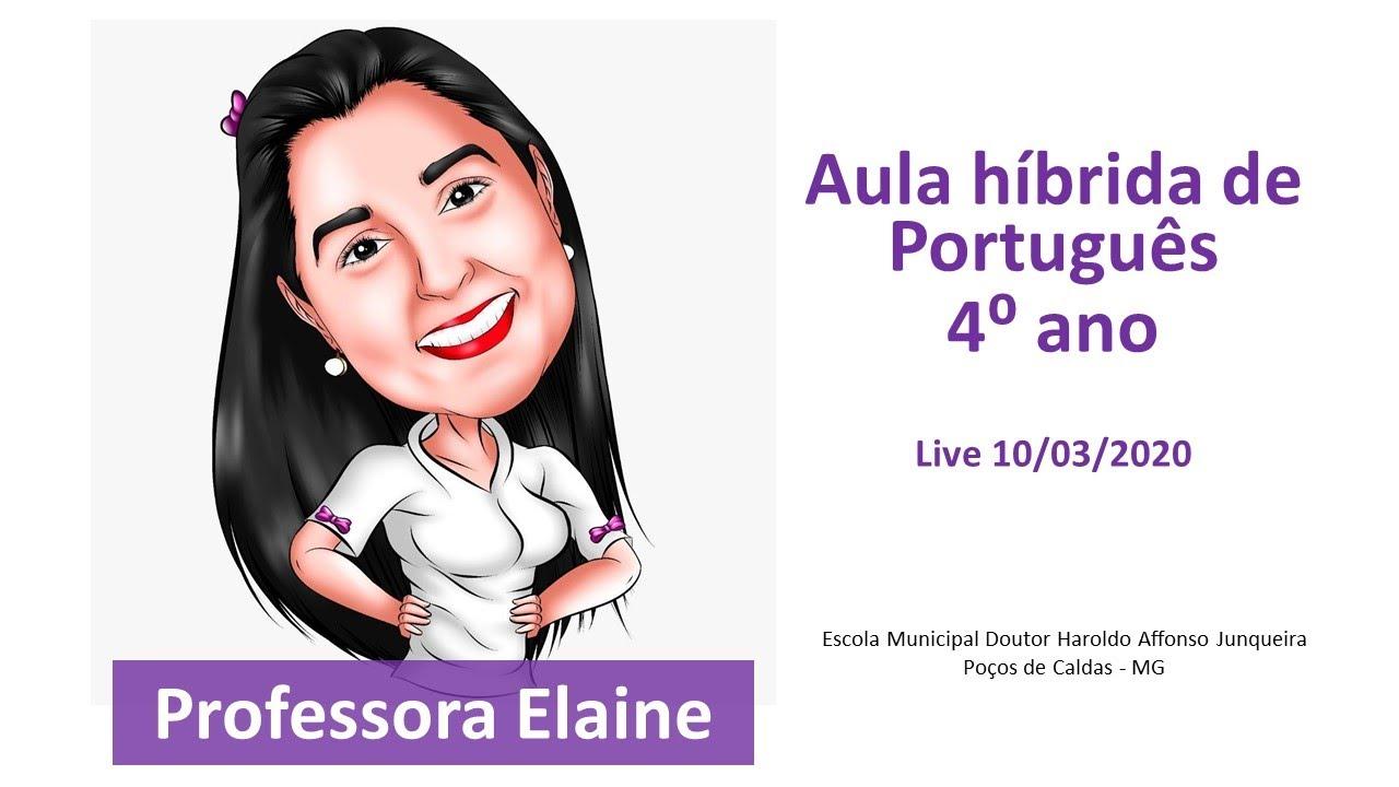 Aula Português 4 ano - Escola Haroldo Poços de Caldas